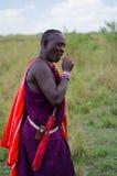 Человек Maasai Стоковые Изображения RF