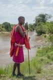 Человек Maasai Стоковые Фото