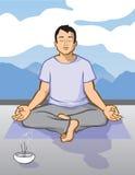 человек meditating Иллюстрация штока