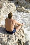 человек meditating Стоковая Фотография