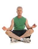 человек meditating стоковое изображение rf