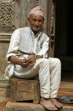 человек nepalese старый Стоковые Фото