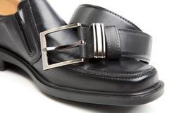 человек s ботинка пояса Стоковое фото RF
