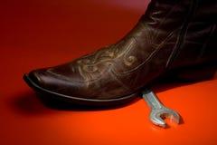 человек s ботинка Стоковое фото RF
