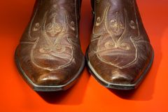 человек s ботинок Стоковые Фото