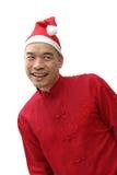 человек s santa шлема стоковая фотография rf