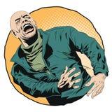 человек screaming шток померанца иллюстрации предпосылки яркий Стоковая Фотография RF