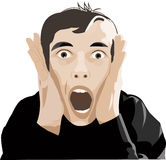 человек screaming иллюстрация вектора