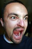 человек screming стоковое фото rf