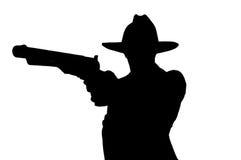 Человек Sihouette Стоковые Фотографии RF