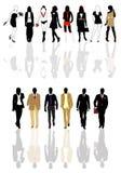 человек silhouettes женщина Стоковая Фотография RF
