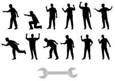 человек silhouettes ключ Стоковое Фото