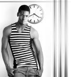 человек stripes своевременное Стоковые Фото