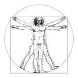 Человек Vitruvian Леонардо Да Винчи Стоковые Фотографии RF