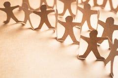 Человеческая бумага толпы Стоковые Изображения