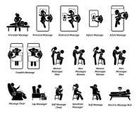 Человеческие оборудования masseur и массажа бесплатная иллюстрация