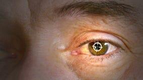 Человеческие части тела Крупный план человеческого глаза сток-видео