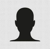 Человеческое изображение профиля - черный значок вектора иллюстрация штока