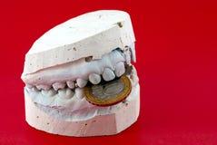 челюсти владением монетки стоковые изображения rf