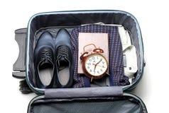 чемодан бизнесмена s стоковые фото