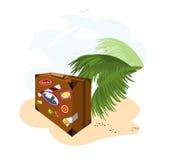 чемодан праздника Иллюстрация штока