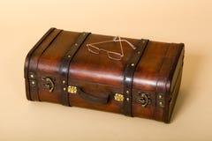 чемодан стекел глаза старый ретро Стоковое фото RF