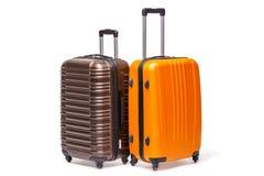 2 чемодана изолированного на белизне Стоковые Изображения RF