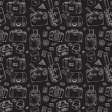 чемоданы Безшовная предпосылка Стоковое Фото