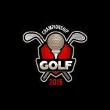 Чемпионат 2016 гольфа иллюстрация штока