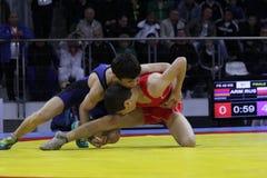 Чемпионат кадета 2014 европейцев wrestling Стоковое фото RF