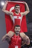 Чемпионат кадета 2014 европейцев wrestling Стоковое Изображение