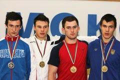 Чемпионат кадета 2014 европейцев wrestling Стоковые Фотографии RF