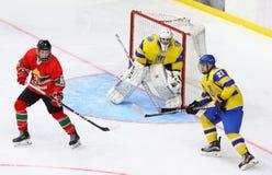 Чемпионат мира 2018 хоккея на льде U18 Div 1, Kyiv, Украина стоковое фото
