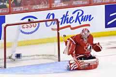 Чемпионат мира хоккея на льде женщин IIHF - спичка золотой медали - Канада v США Стоковые Изображения