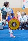 Чемпионат России на powerlifting в Москве. стоковое изображение