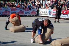 Чемпионат сильного человека Стоковая Фотография RF