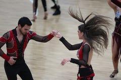 Чемпионат танца сальсы Стоковое фото RF