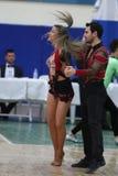 Чемпионат танца сальсы Стоковая Фотография