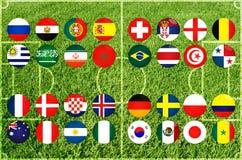 Чемпионат футбола в 2018 год Стоковое Изображение