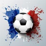 Чемпионат 2016 футбола Франции евро иллюстрация вектора