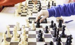 Чемпионат шахмат стоковое фото