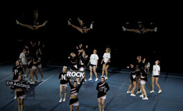 чемпионат 2010 cheerleading Финляндия стоковые фотографии rf