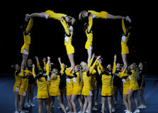 чемпионат 2010 cheerleading Финляндия стоковые фото