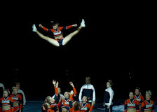 чемпионат 2010 cheerleading Финляндия Стоковые Изображения RF