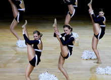 чемпионат 2010 cheerleading Финляндия стоковая фотография rf