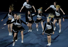 чемпионат 2010 cheerleading Финляндия Стоковое Изображение