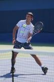 14 чемпионов Рафаэль Nadal грэнд слэм времен практик Испании для США раскрывает 2015 Стоковое фото RF