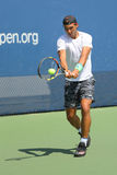 14 чемпионов Рафаэль Nadal грэнд слэм времен практик Испании для США раскрывает 2015 Стоковые Изображения