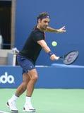 19 чемпионов Роджер Federer грэнд слэм времен практик Швейцарии для США раскрывает 2017 Стоковые Фото