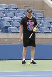 6 чемпионов Boris Becker тренируя Novak Djokovic грэнд слэм времен для США раскрывает 2014 стоковое фото rf